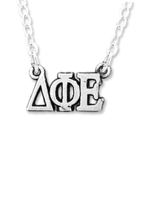 DPhiE Designs Gifts - Horizontal Greek Letters Necklace