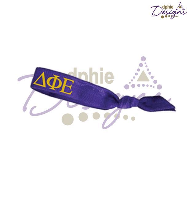 DPhiE Designs Accessories - Purple Letters Hair Tie