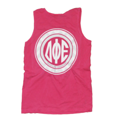 Delta Phi Epsilon Pink Circle Chevron Monogram Tank Back